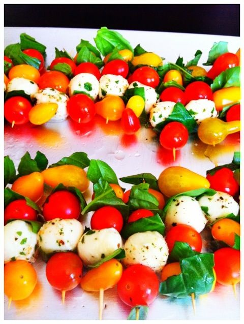 Caprese Skewers | Time To Party!!! | Pinterest