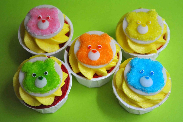 Care Bear cupcakes!