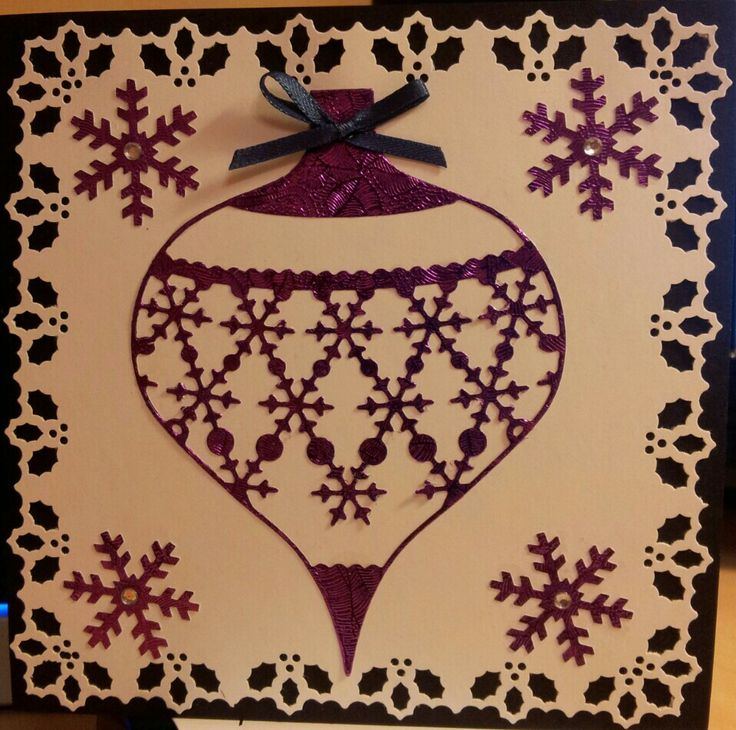 Purple Bauble Christmas Card   My Christmas Cards   Pinterest: pinterest.com/pin/493214596662958076