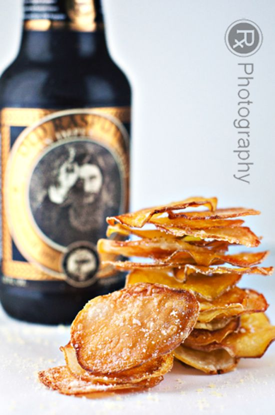 Oven Fried Truffle & Parmesan Potato Chips