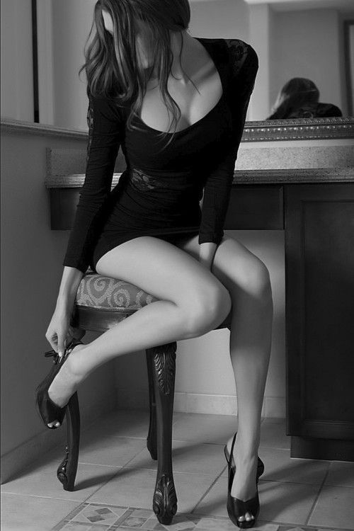 Short Skirts, sexy woman, long legs, black and white photography, beautiful  pinterest.com/kythoni #KyFun