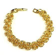 Vintage Napier Gold Plated Bracelet Signed Patent 4.774.743 Love Knot Chain