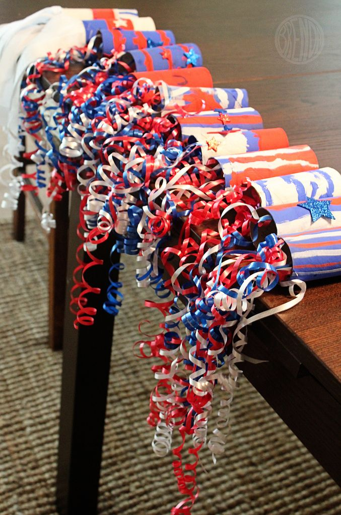 Patriotic Parade Streamers for our annual bike parade! #happy4th