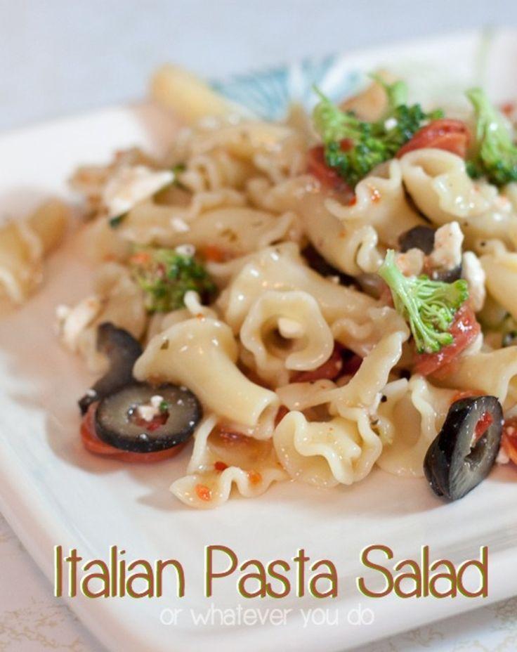 Pasta Salad http://www.orwhateveryoudo.com/2012/06/italian-pasta-salad ...