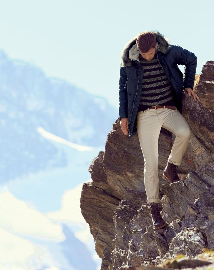 J.Crew 484 selvedge jeans in wheat, Snorkel jacket and the Original Chippewa® for J.Crew plain-toe boots.