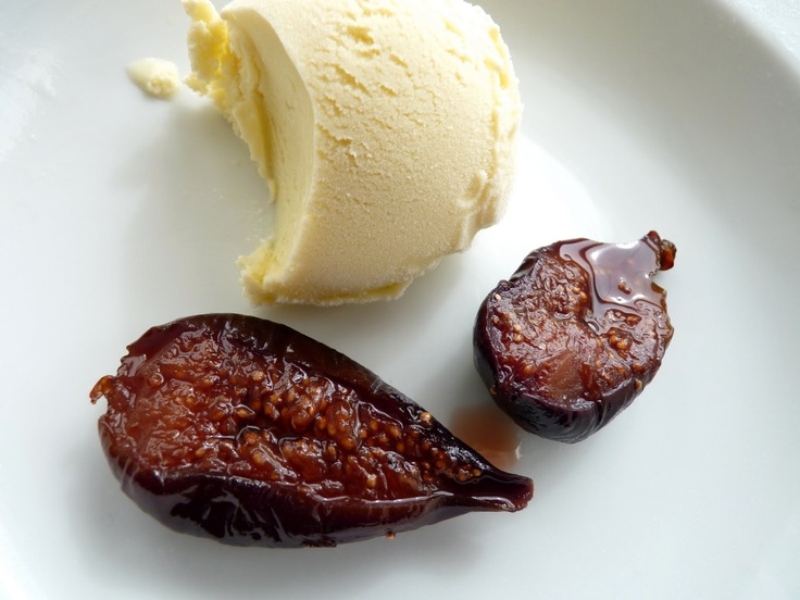 roasted figs with fennel ice cream | ice cream and sorbet | Pinterest