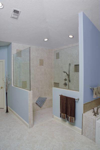 Open showers bathroom retreats pinterest - Open shower bathroom design ...