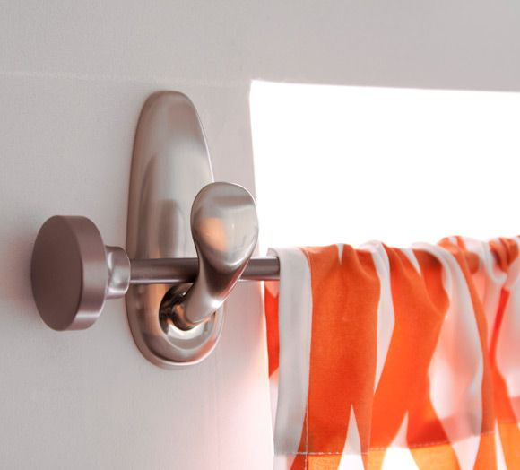 hang curtain rod with command hooks | how to's and tips | Pinterest