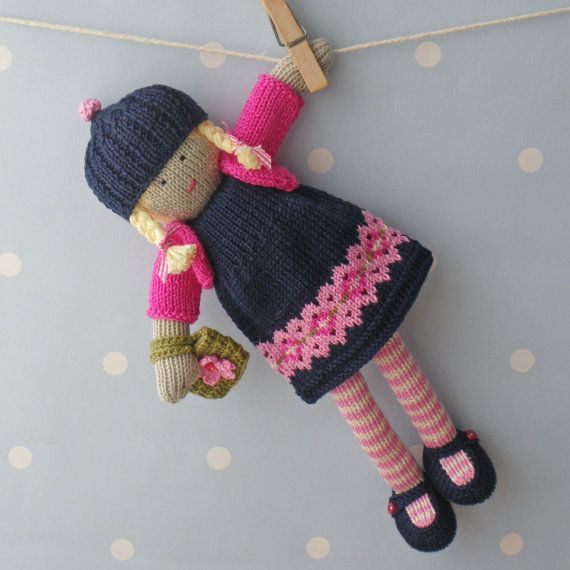 Naomi - Hand knitted doll