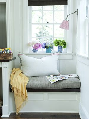 This cozy little nook is perfect for light reading.