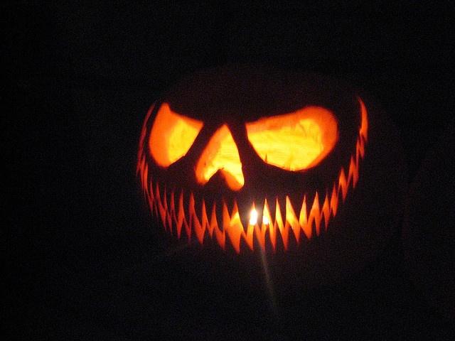 halloween pumpkin guacamole
