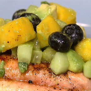 Salmon With Blueberry Mango Salsa Recipes — Dishmaps