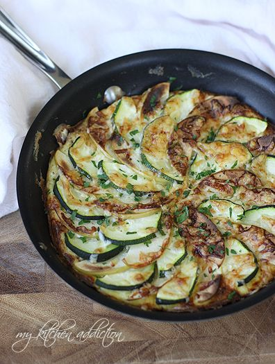 Apple, Zucchini, and Cheddar Frittata from