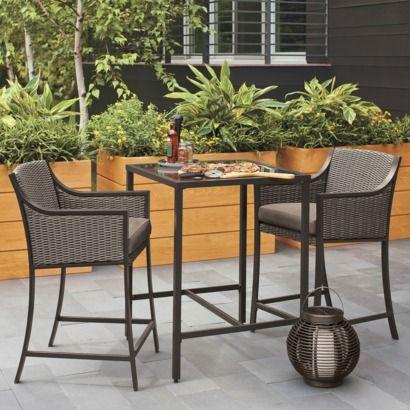 casetta 3 piece wicker patio bar height bistro furniture set
