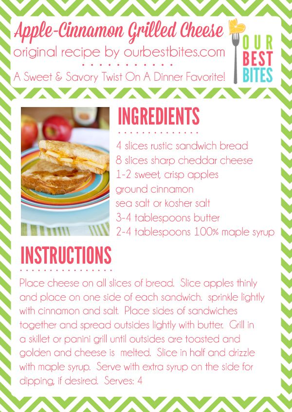 apple cinnamon grilled cheese | Food and Recipes | Pinterest
