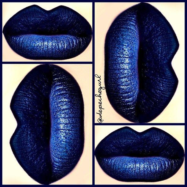 "Ardency Inn ""Black Is Blue"" Lipstick with MAC ""Naval Blue ..."