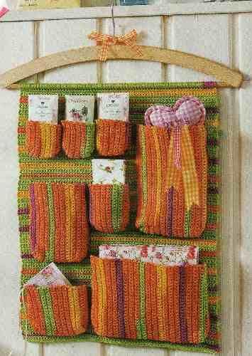 Organizador Para Baño A Crochet:Organizador de crochet