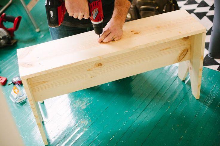 Making A Wooden Bench Ideas Crafts DIY Pinterest