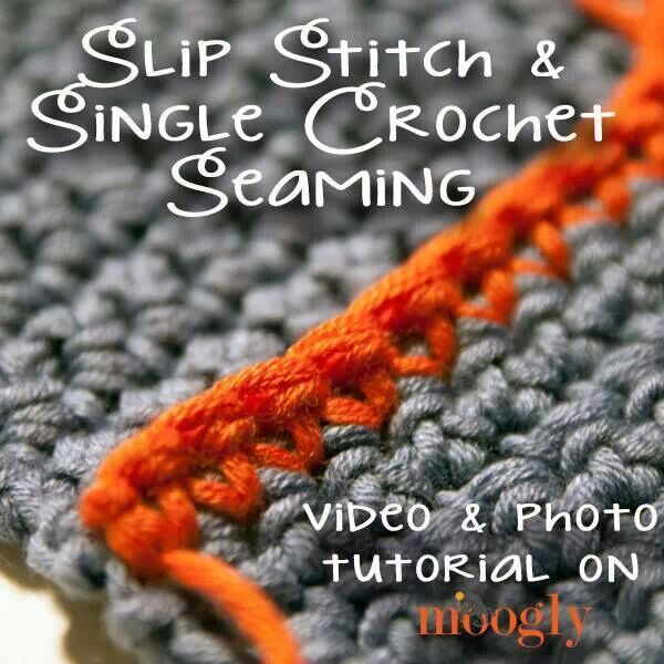 Crochet Stitches Slip Stitch : Slip stitch & single crochet seaming knitting Pinterest