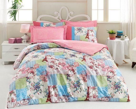 100 cotton paris eiffel tower teens tw n single by homestore2014