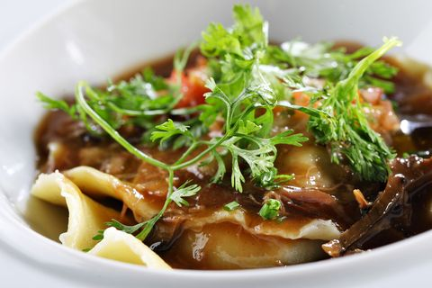 Port Wine Glazed Ravioli With Oxtail | Recipe