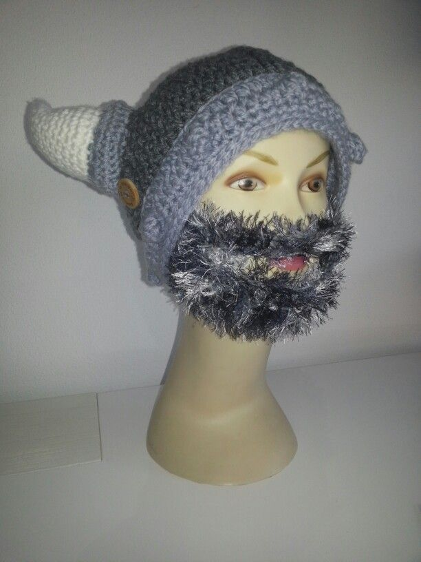 Crochet Viking Hat With Beard : Crochet. Viking hat with beard Crochet hats & beanies Pinterest