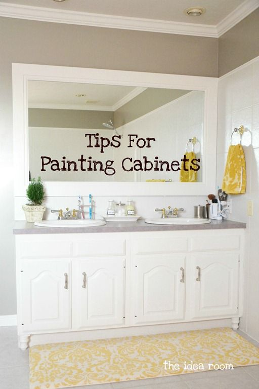Tips and Tools for Painting your Cabinets--so the kitchen will turn out better than the bathroom