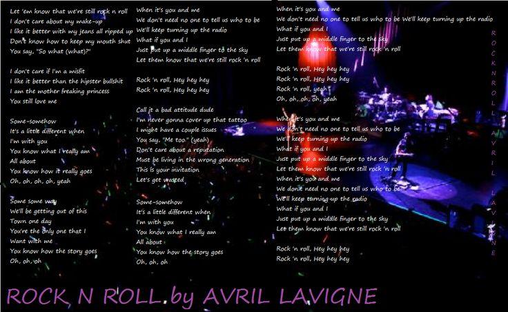 Pin by Amanda Slazer on Song Lyrics | Pinterest Avril Lavigne Lyrics