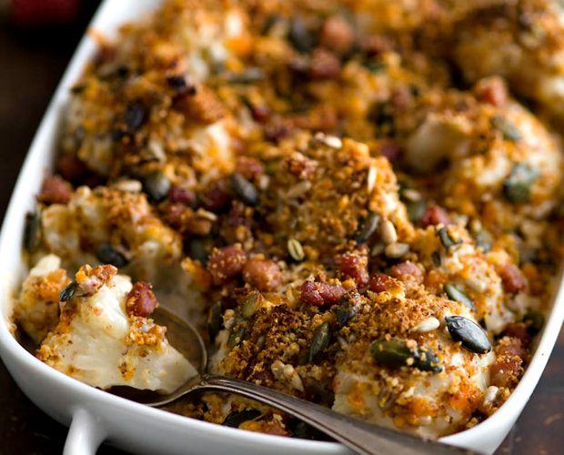 Cauliflower, Bacon & Mustard Gratin | Recipes We Love | Pinterest