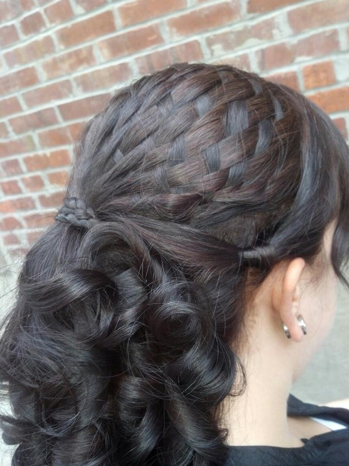 beach curl hairstyles : Basket Weave Wedding Hair Style And Specialty Hair Braiding Style ...