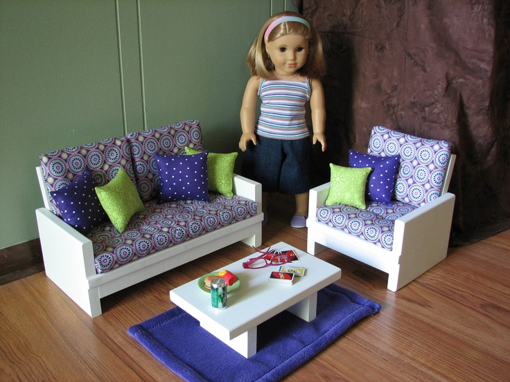 18 dollamerican girl sized living room loveseatchaircoffee end