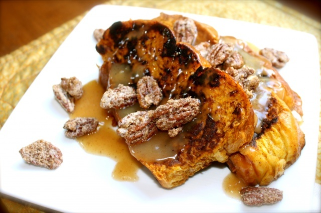 ... French Toast with Apple Cider Syrup and Spiced Pecans. Brunch, anyone