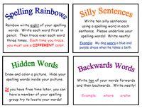 Spelling Center Ideas