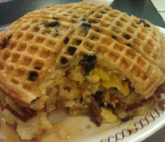 waffle sandwich | On The Menu... | Pinterest