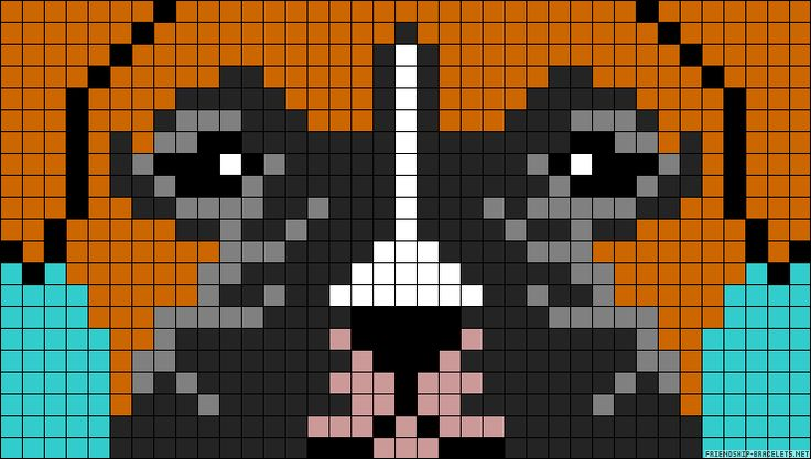 Minecraft Dog Knitting Pattern : Boxer dog perler bead pattern Embroidery Pinterest