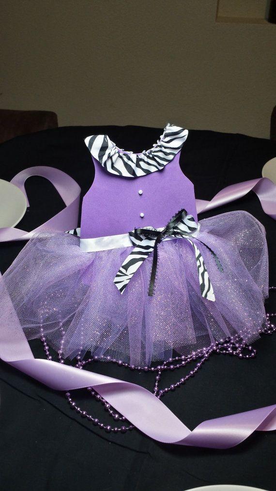 zebra and purple tutu centerpiece for baby shower by zujeynxiomara