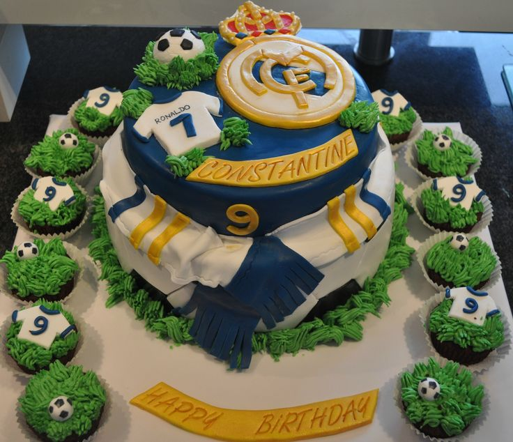 Real madrid cake party ideas pinterest - Real madrid decorations ...