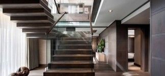 Gorgeous stairs fantastic penthouse design with the best furniture