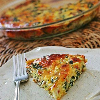 Crustless Kale Quiche | Food | Pinterest