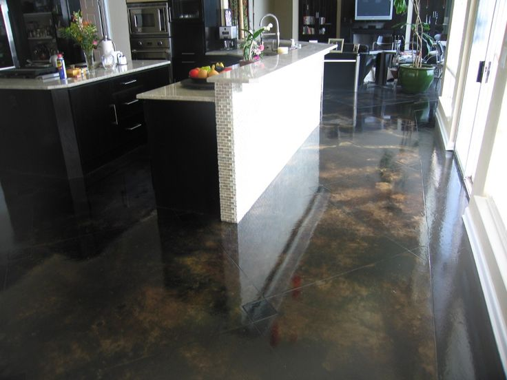 Decorative concrete flooring floored pinterest for How to care for stained concrete floors