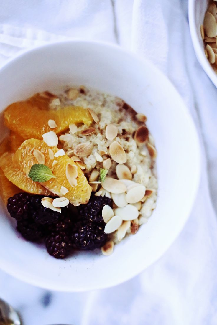 farro breakfast bowl with cranberries and hazelnuts breakfast quinoa ...