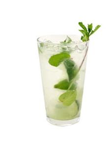 Mint leaves, torn in half, 1 oz Club Soda or Lemon Lime Soda ...