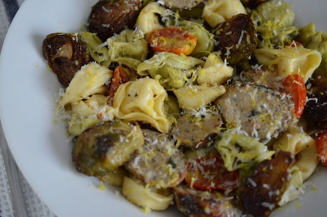 Creamy Fettuccine With Brussels Sprouts & Mushrooms Recipe ...
