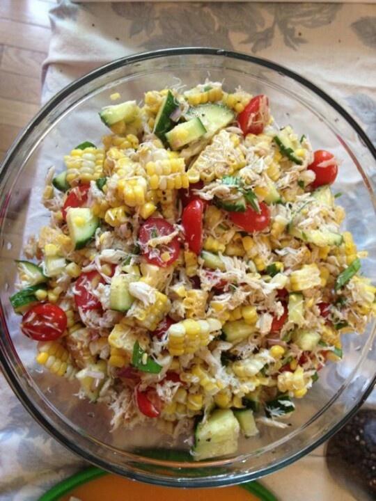 Corn and crab salad   Recipes   Pinterest