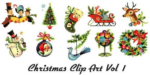 Retro Clip Art of Vintage Christmas Images 1950's Baby Boomer Art: pinterest.com/pin/100557004153634463