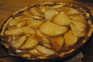 Spicy Brie and Pear Tart by Baking With Becca