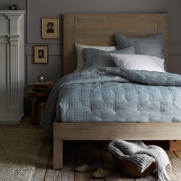 West Elm bedroom Blue Rooms