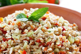 Farro with Feta Cucumbers and Sun-dried Tomatoes — Recipe from ...