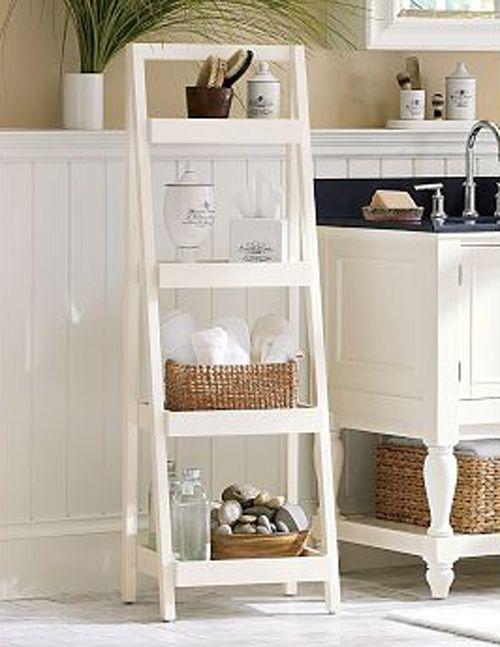 Pin by jen f on bathroom ideas pinterest for Bathroom ladder shelf
