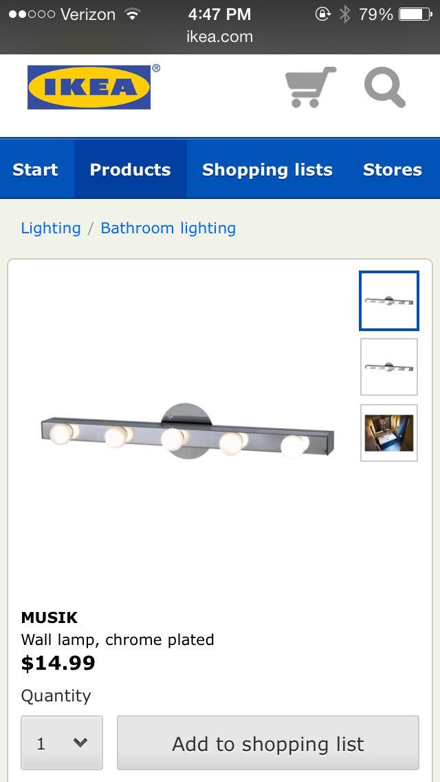 ikea vanity mirror lights. Black Bedroom Furniture Sets. Home Design Ideas